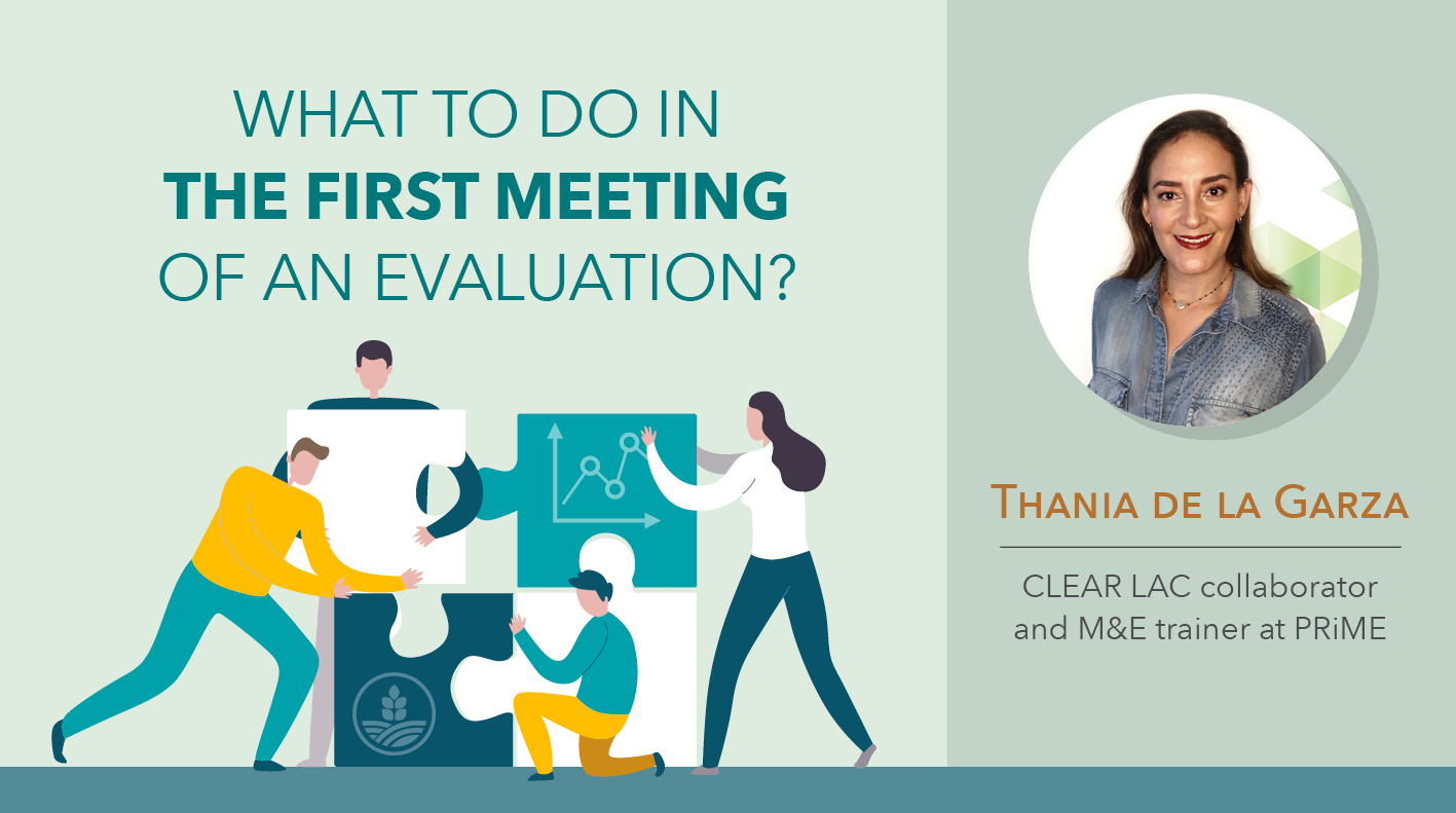 What to do in the first meeting of an evaluation?